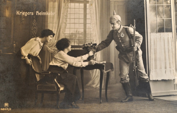 Postkarte Kriegsheimkehrer