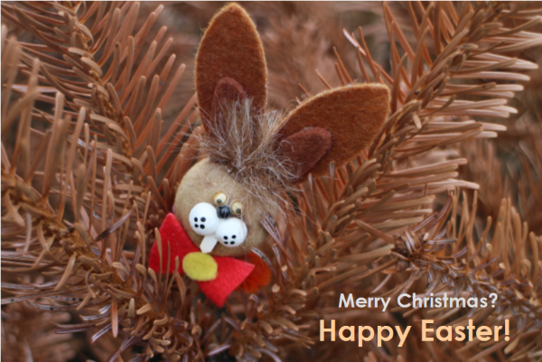 Easter Bunny in Christmas Tree 2017-1